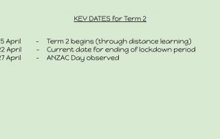 Term 2 Key Dates