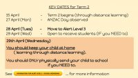 Tern 2 dates - long distance learning and in school if you NEED to.